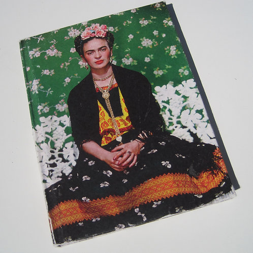 frida kahlo illustrated blank page journal