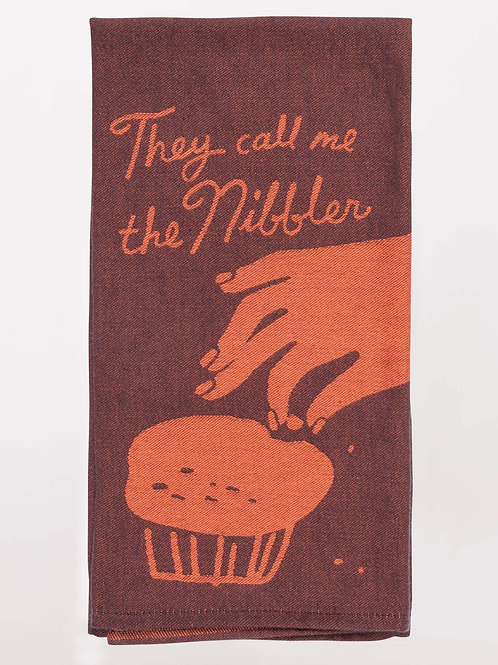 they call me the nibbler muffin dish towel