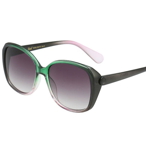 amelia oversized green ombre sunglasses