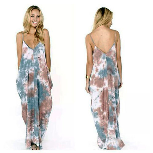 lovestitch tie dye cocoon maxi dress S/M