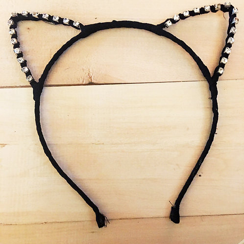 simple kitty cat crystal studded ears headband!!