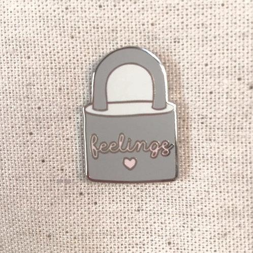 locked up feelings enamel pin