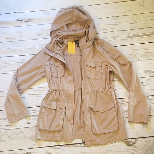 h&m 100% cotton utility hooded jacket L