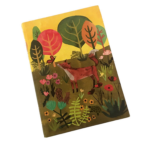 beautifully illustrated fox and forest journal