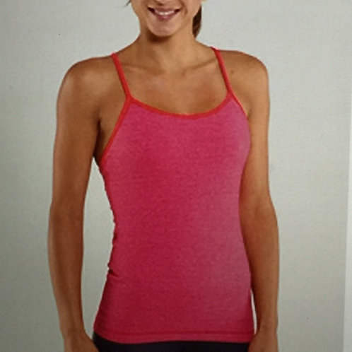 lululemon pink contrast trim power y tank top 8