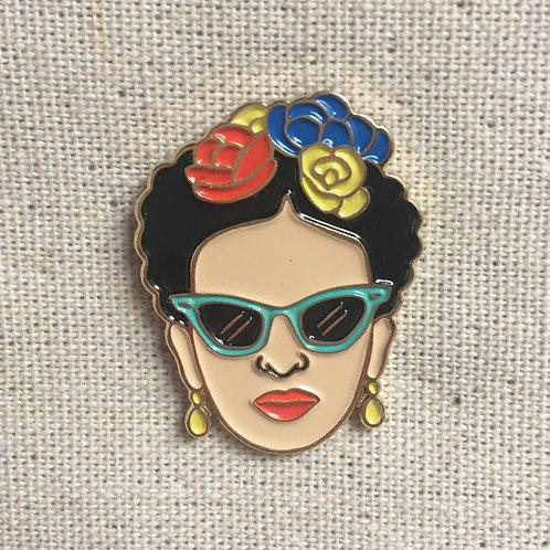 frida kahlo pop art enamel pin