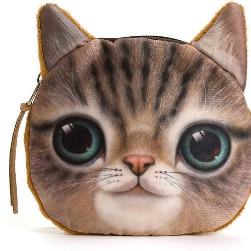 soft kitty zipper pouch coin purse
