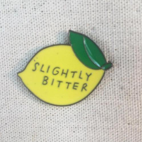 slightly bitter lemon enamel pin