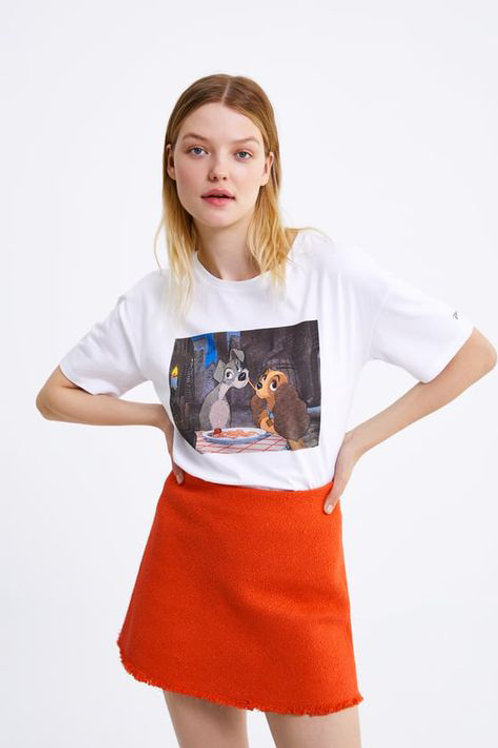 rare celebrity ZARA lady & the tramp tee S