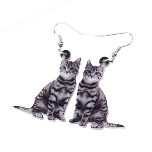 catnip for humans!! kitty cat print earrings