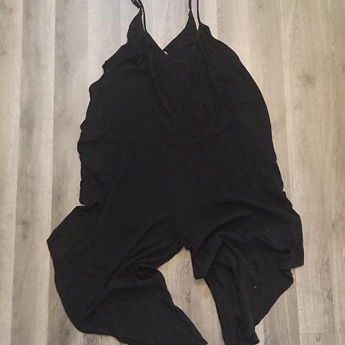 NEW! elan black gauzy cotton romper playsuit L