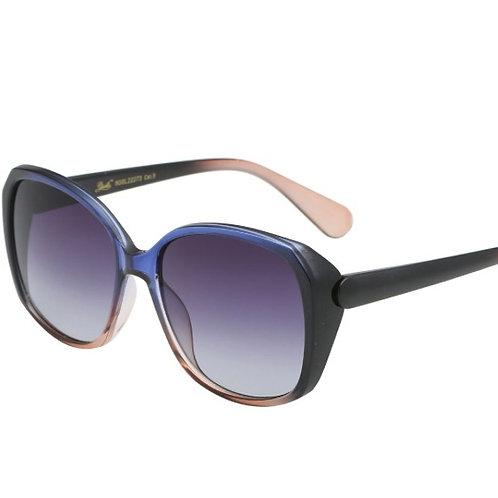 amelia oversized blue & peach ombre sunglasses