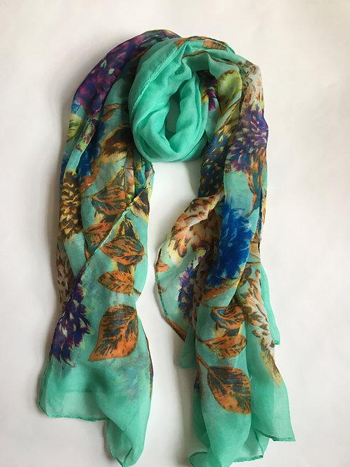 gorgeous mint green garden party scarf