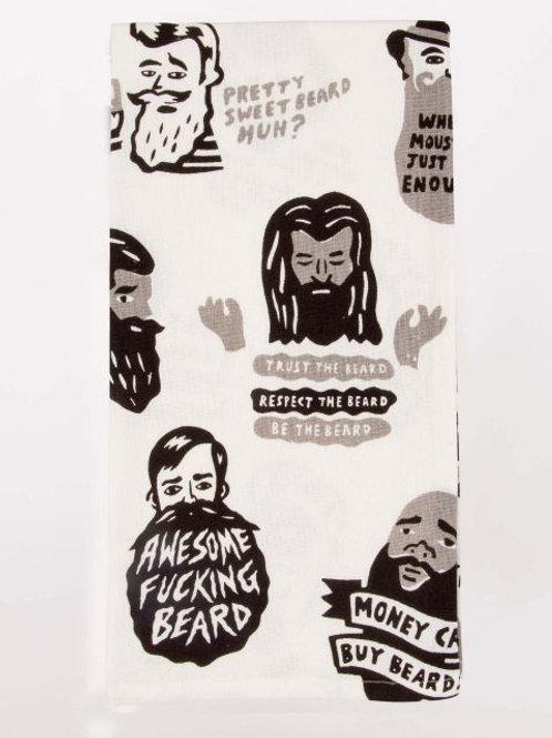 awesome f*cking beard dish towel