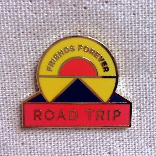 bff friends forever road trip enamel pin