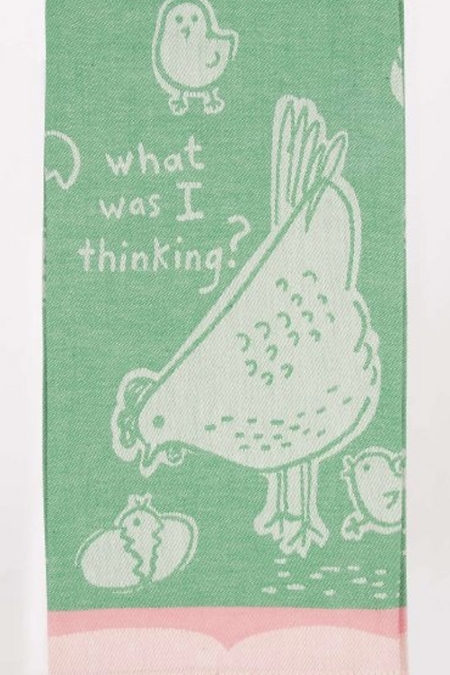 what was i thinking hen chicks dish towel
