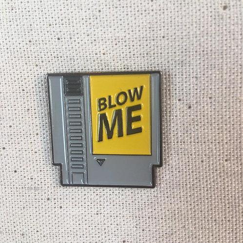 old school nintendo gamer cartridge enamel pin