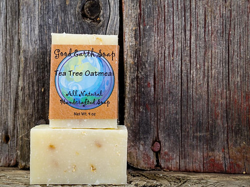 good earth tea tree oatmeal bar soap