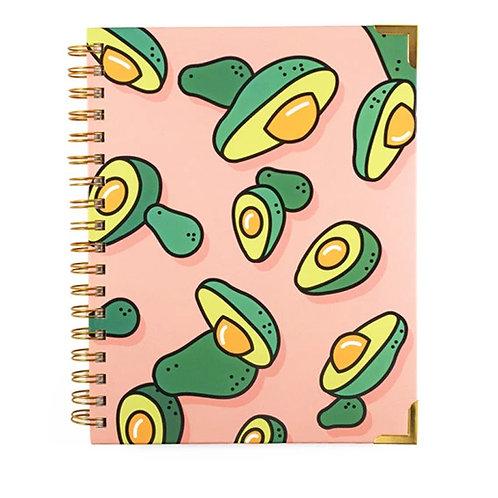 spiral bound avocado pop art journal