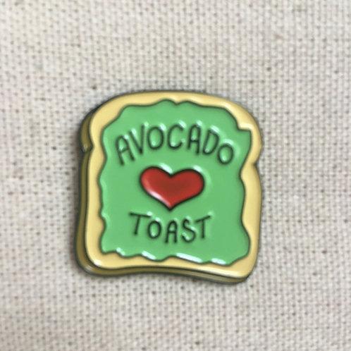 funny hipster avocado toast enamel pin