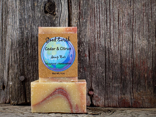 good earth cedar & citrus bar soap