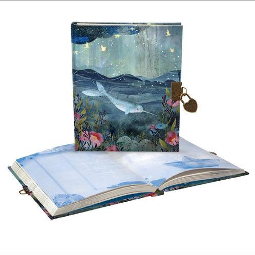 sea dreamland narwhal underwater lockable diary journal