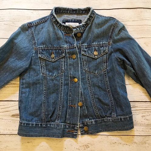 ann taylor loft cotton & linen blend jean jacket XS
