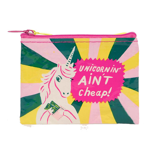 """unicornin' ain't cheap"" zipper coin purse"