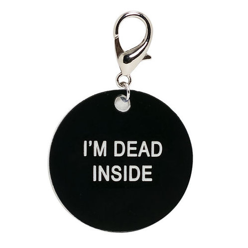 i'm dead inside key tag