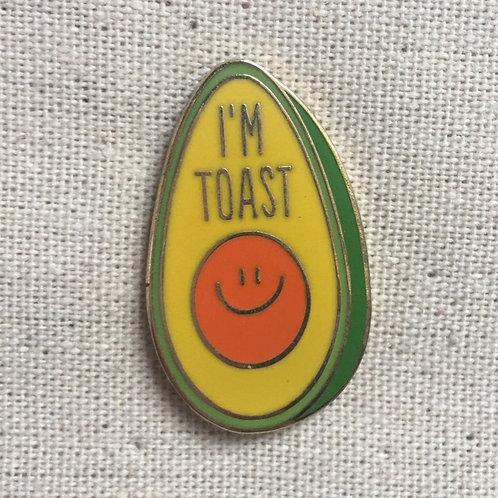 i'm avocado toast cute enamel pin