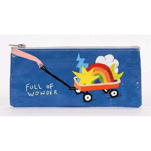 """full of wonder"" rainbow wagon pencil case pouch"