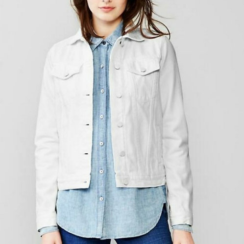 gap 1969 off white classic jean jacket M