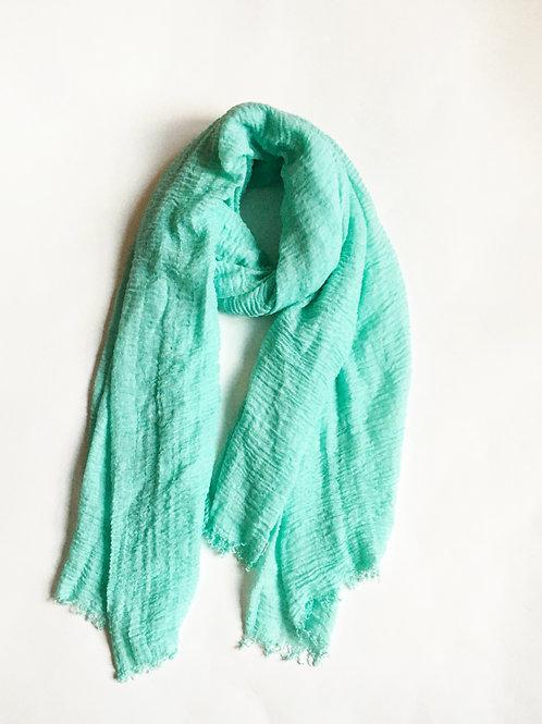 minimalist mint green scarf