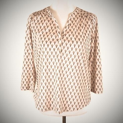 h&m light pink hot air balloon blouse M