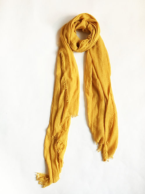 minimalist mustard golden yellow scarf