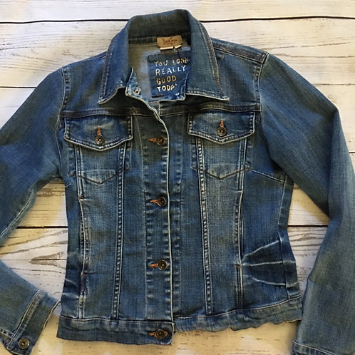 dick & jayne LA whiskered distressed jean jacket