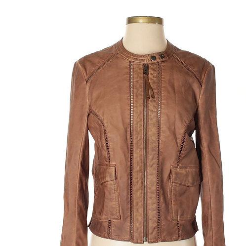 anthropologie hei hei vegan leather bomber jacket M