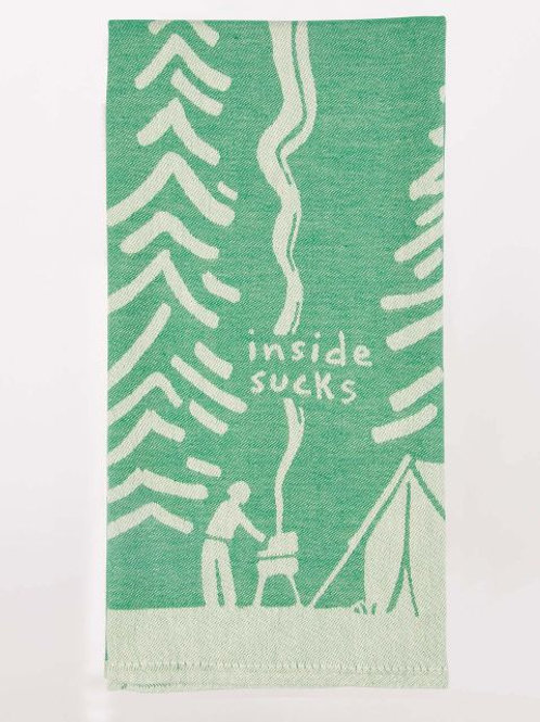 inside sucks camping dish towel