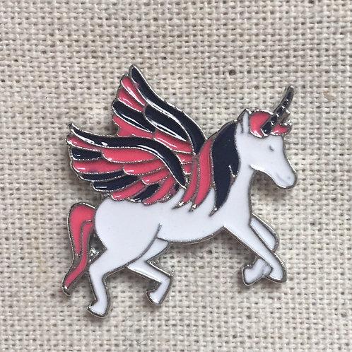 unicorn pink pegasus enamel pin