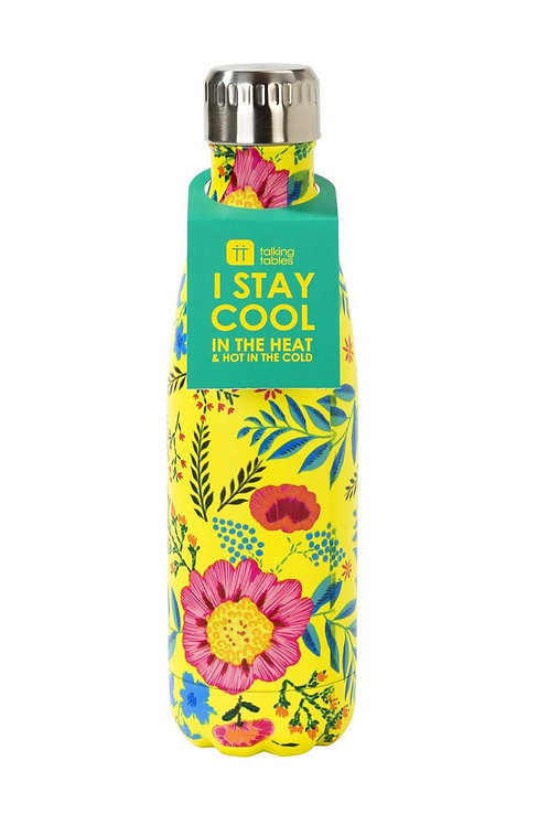 Steel Hot/Cold 18 oz Boho Floral Water Bottle BPA-FREE