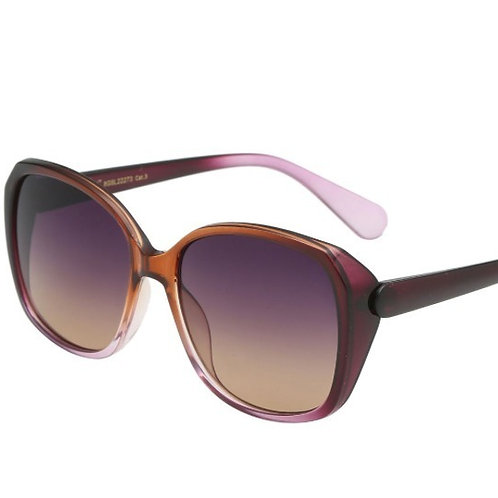 amelia oversized lilac & brown ombre sunglasses