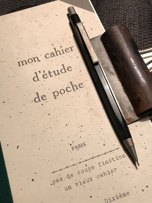 french vintage book square lined journal