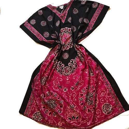 vintage pamela stewart kaftan Kimono Dress O/S