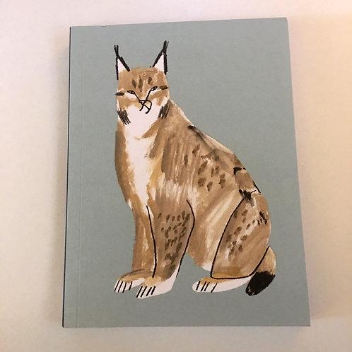 elegant Illustrated blue cat journal