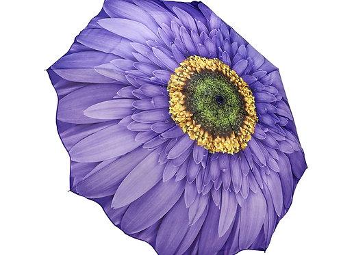 purple gerbera daisy flower foldable umbrella