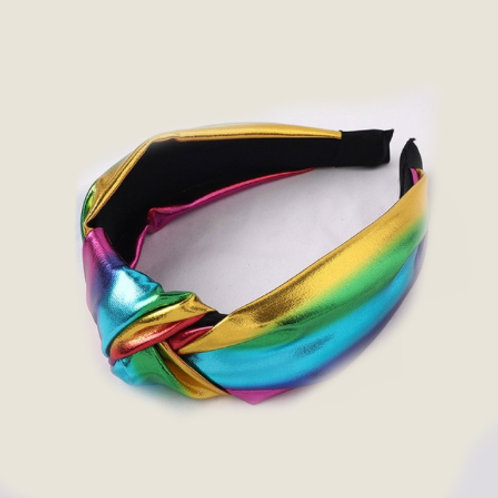 magical disco rainbow shimmer headband