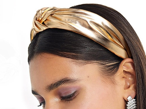 magical gold shimmer headband