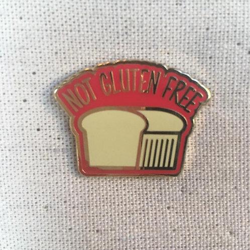 snarky not gluten free i love carbs enamel pin