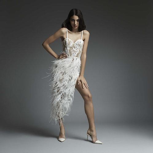 Feather embellished Dress