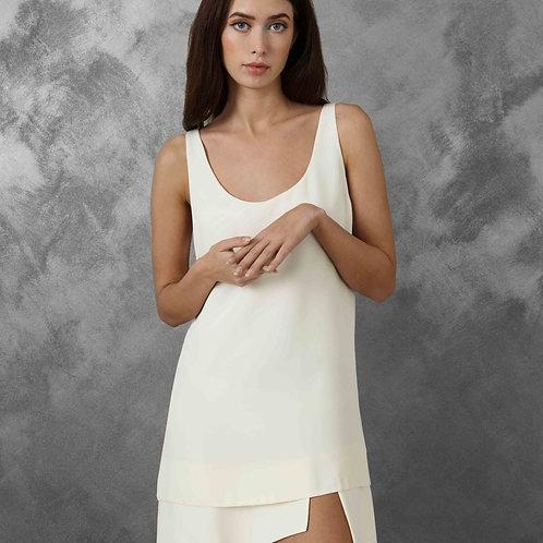 WHITE GEOMETRIC ICONIC DRESS
